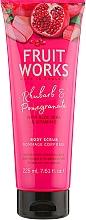 "Parfüm, Parfüméria, kozmetikum Tastradír ""Rebarbara és gránátalma"" - Grace Cole Fruit Works Body Scrub Rhubarb & Pomegranate"