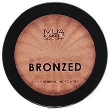 Parfüm, Parfüméria, kozmetikum Bronzosító csillogó arcpúder - MUA Bronzed Shimmer Bronzing Powder Solar Shimmer