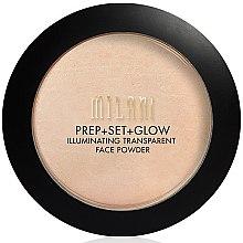 Parfüm, Parfüméria, kozmetikum Csillámló púder és primer 3 az 1-ben - Milani Prep + Set + Glow Illuminating Transparent Powder
