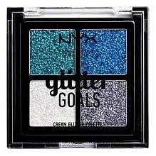 Parfüm, Parfüméria, kozmetikum Krém alapú glitter paletta - NYX Professional Makeup Glitter Goals Cream Quad Palette