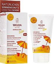 Parfüm, Parfüméria, kozmetikum Fényvédő tej érzékeny bőrre - Weleda Edelweiss Baby&Kids Sun SPF 30