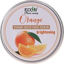 Parfüm, Parfüméria, kozmetikum Élénkítő arcradír cukorzselével és naranccsal - Eco U Orange Brightening Sugar Jelly Face Scrub