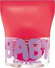 Parfüm, Parfüméria, kozmetikum Balzsam ajkakra és arcra - Maybelline Baby Lips Balm Blush Ball