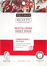 Parfüm, Parfüméria, kozmetikum Regeneráló szövetmaszk - Freeman Beauty Infusion Revitalizing Peel-Off Mask Pomegranate + Peptides
