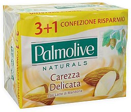Parfüm, Parfüméria, kozmetikum Szappan mandulatejjel 3+1 - Palmolive Natural Delicate Care with Almond Milk Soap