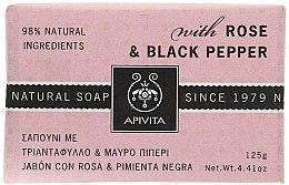"""Parfüm, Parfüméria, kozmetikum Szappan """"Rózsa és bors"""" - Apivita Soap with Rose and Black pepper"""