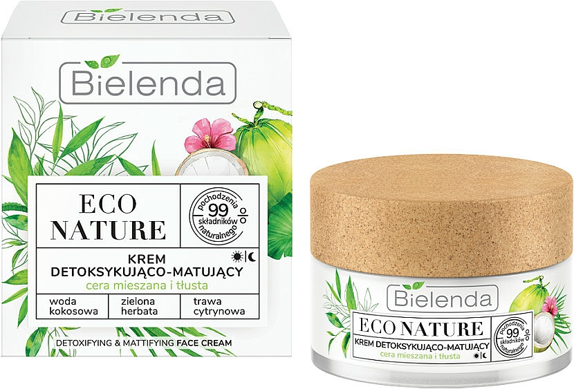 Arckrém - Bielenda Eco Nature Coconut Water Green Tea & Lemongrass Face Cream
