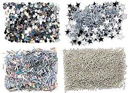 Parfüm, Parfüméria, kozmetikum Körömcsillám szett, ezüst - Peggy Sage Nail Glitter Mini Kit Argent