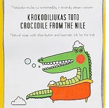 Parfüm, Parfüméria, kozmetikum Sheavaj és levendulaolaj szappan gyerekeknek - Uoga Uoga Crocodile From The Nile Natural Soap