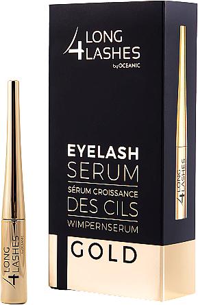 Szempillanövekedést stimuláló szérum - Long4lashes EyeLash Gold Serum