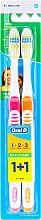 Parfüm, Parfüméria, kozmetikum Fogkefe szett (közepes, narancssárga+rózsaszín) - Oral-B 1 2 3 Maxi Clean 40 Medium 1+1