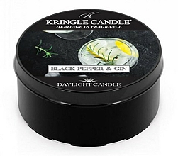 Parfüm, Parfüméria, kozmetikum Teamécses - Kringle Candle Daylight Black Pepper Gin