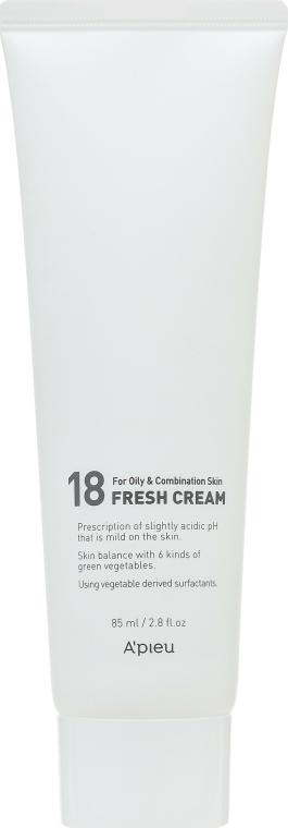 Frissítő krém zsíros és kombinált bőrre - A'pieu 18 Cream Fresh Cream