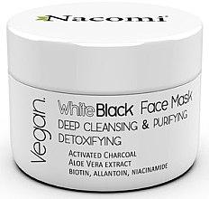 Parfüm, Parfüméria, kozmetikum Arcmaszk aktív szénnel - Nacomi White & Black Face Mask