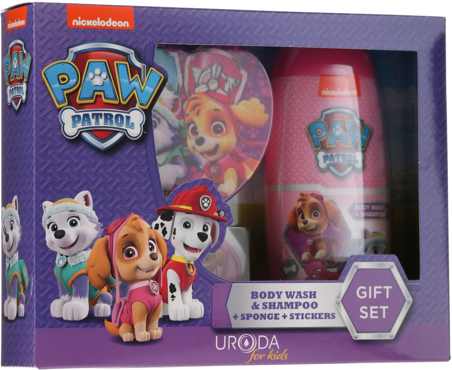 Készlet - Uroda Paw Patrol Girl (sh/gel/250ml + sponge + stickers)