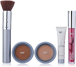 Parfüm, Parfüméria, kozmetikum Szett - Pur Minerals Best Sellers Starter Kit Golden Medium (primer/10ml+found/4.3g+bronzer/3.4g+mascara/5g+brush)