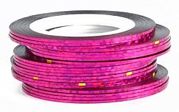 Parfüm, Parfüméria, kozmetikum Holografikus körömdíszítő szalag, rózsaszín - Deni Carte