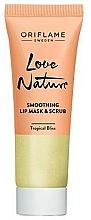 Parfüm, Parfüméria, kozmetikum Cukros maszk és radír 2 az 1-ben mentollal és lime-mal - Oriflame Love Nature Smoothing Lip Mask & Scrub