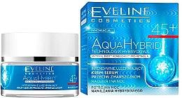 Parfüm, Parfüméria, kozmetikum Intenzíven feszesítő nappali és éjszakai krém 45+ - Eveline Cosmetics Aqua Hybrid Cream-Serum 45+