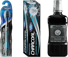 Parfüm, Parfüméria, kozmetikum Szett - Beauty Formulas Charcoal (mouthwash/500ml + toothbrush/1pcs + toothpaste/125g)