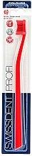 Parfüm, Parfüméria, kozmetikum Fogkefe, közepesen lágy, piros - SWISSDENT Profi Colours Soft-Medium Toothbrush Red&Red