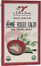 """Parfüm, Parfüméria, kozmetikum Hajpor """"Rosso Caldo"""" - Le Erbe di Janas Red Henna Hot Shades"""