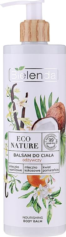 Tápláló lotion - Bielenda Eco Nature Vanilla Milk, Coconut Milk, Orange Blossom Nourishing Body Lotion
