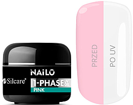 Parfüm, Parfüméria, kozmetikum Körömápoló gél - Silcare Nailo 1-Phase Gel UV Pink