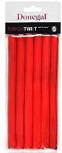 Parfüm, Parfüméria, kozmetikum Hajcsavaró 5004, 1,3cm/18cm, piros - Donegal Ribbon Twist