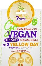 """Parfüm, Parfüméria, kozmetikum Szövet arcmaszk """"Yellow Day"""" - 7 Days Go Vegan Tuesday Yellow Day"""