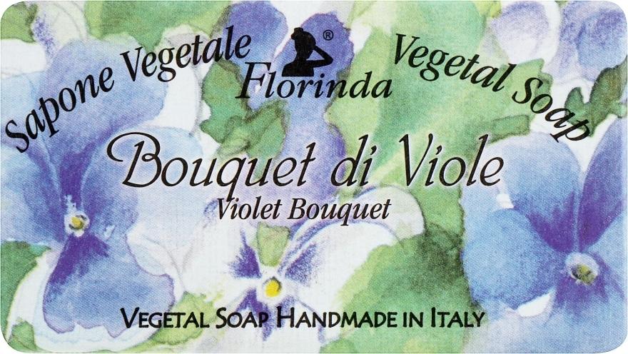 """Természetes szappan """"Ibolya csokor"""" - Florinda Sapone Vegetale Vegetal Soap Violet Bouquet"""