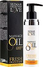 "Parfüm, Parfüméria, kozmetikum Masszázsolaj ""Friss narancs"" - Sezmar Collection Love Massage Oil Fresh Orangeade"