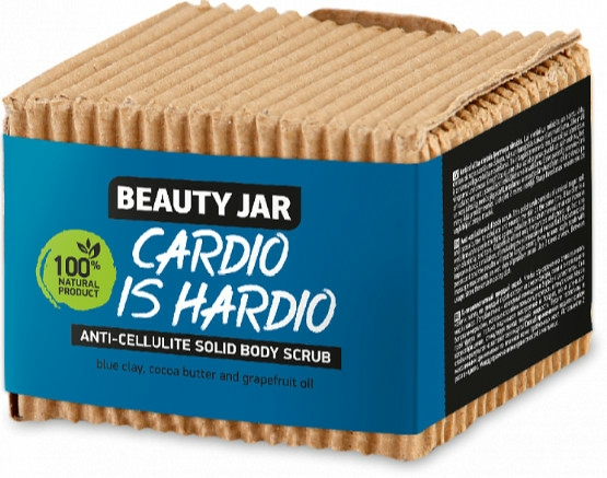 Kemény narancsbőr elleni bőrradír - Beauty Jar Cardio Is Hardio Anti-Cellulite Solid Body Scrub