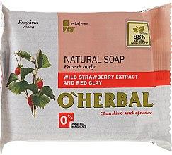 Parfüm, Parfüméria, kozmetikum Természetes szappan vad eper kivonattal és vörös agyaggal - O'Herbal Natural Soap
