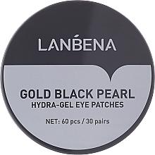 Parfüm, Parfüméria, kozmetikum Hidrogél szemtapasz arannyal és fekete gyönggyel - Lanbena Gold Black Pearl Hydra-Gel Eye Patch