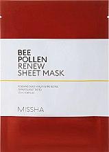 Parfüm, Parfüméria, kozmetikum Megújító szövetmaszk - Missha Bee Pollen Renew Sheet Mask