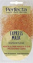"""Parfüm, Parfüméria, kozmetikum SOS arcmaszk """"24-karátos arany és hialuronsav"""" - Perfecta Express Mask"""