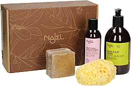 Parfüm, Parfüméria, kozmetikum Készlet - Najel (liquid/soap/500ml + soap/200g + sponge/1pcs + water/200ml)