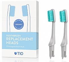 Parfüm, Parfüméria, kozmetikum Cserélhető fogkefefej, lágy, szürke - TIO Toothbrush Soft