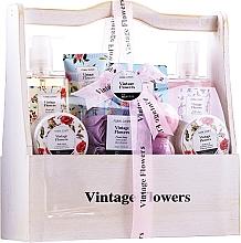 Parfüm, Parfüméria, kozmetikum Szett - IDC Institute Vintage Flowers (sh/g/240ml+b/lot/50ml+b/scrub/50ml+salt/100g+soap/4x3g+bath/foam/240ml+h/lot/100ml+bomb/2x40g)