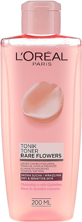 Tisztító tonik száraz és érzékeny bőrre - L'Oreal Paris Rare Flowers Tonic Dry and Sensative Skin