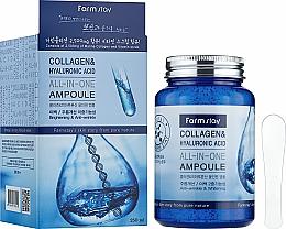 Parfüm, Parfüméria, kozmetikum Ampulla szérum kollagénnel és hialuronsavval - FarmStay Collagen & Hyaluronic Acid All-In-One Ampoule