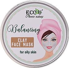 Parfüm, Parfüméria, kozmetikum Kiegyenlítő agyagos arcmaszk zsíros bőrre - Eco U Balancing Clay Face Mask For Oily Skin