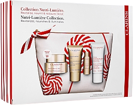 Parfüm, Parfüméria, kozmetikum Szett - Clarins Nutri-Lumiere Christmas Set (f/cr/50ml+f/cr/15ml+f/lot/10ml+h/cr/30ml+bag)