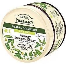 "Parfüm, Parfüméria, kozmetikum Mattító arckrém ""Zöld tea"" - Green Pharmacy Normalizing Matting Cream"