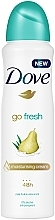 Parfüm, Parfüméria, kozmetikum Izzadásgátló spray 48h Pear & Aloe Vera Scent - Dove Go Fresh Pear & Aloe Vera Scent
