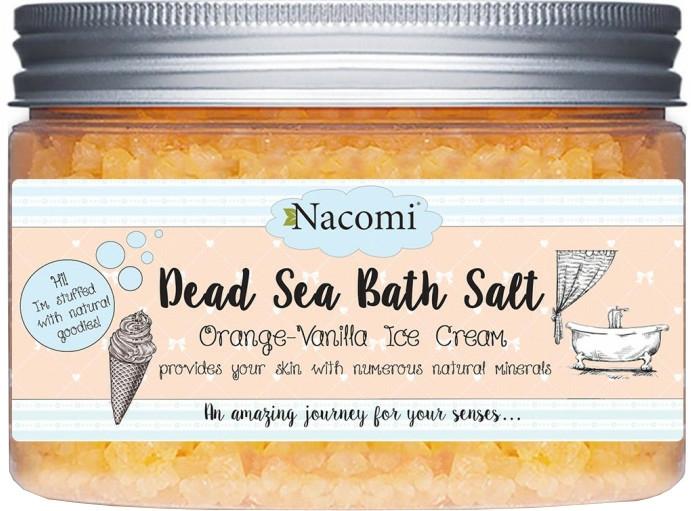Holt tengeri sófürdő naranccsal és vaníliával - Nacomi Dead Sea Bath Salt