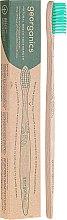Parfüm, Parfüméria, kozmetikum Bambusz fogkefe - Georganics Bamboo Medium Toothbrush Green
