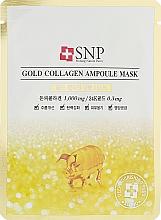 Parfüm, Parfüméria, kozmetikum Ampullás arcmaszk arannyal és kollagénnel - SNP Gold Collagen Ampoule Mask