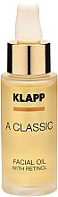 Parfüm, Parfüméria, kozmetikum Arcolaj retinollal - Klapp A Classic Facial Oil With Retinol